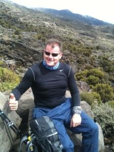 Dougie above Shira Camp Kilimanjaro 02-10-11